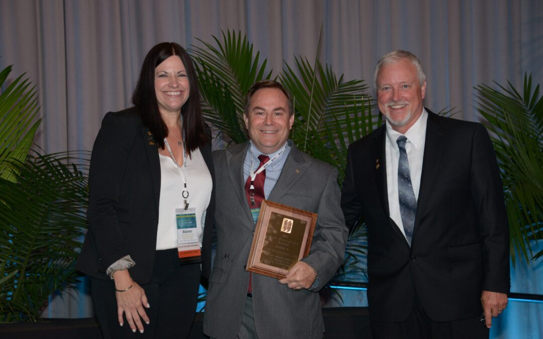 John McShaffrey Honored with Past President's Award by State Association